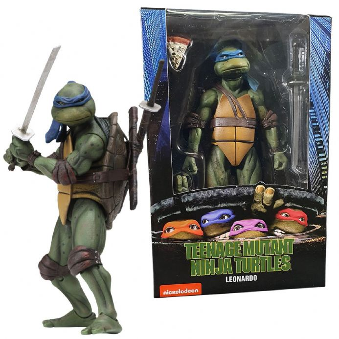 NECA TMNT Teenage Mutant Ninja Turtles 1990 Movie Action Figure – Leonardo | Buy now at The G33Kery - UK Stock - Fast Delivery